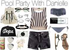 """""""Pool Party With Danielle"""" by wtftowear ❤ liked on Polyvore"""
