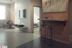 Kuchnia, Apartamenty przy Krasińskiego, rozkład lokalu nr 243. Autorzy projektu: Katarzyna Wątły i Ernest Kośka. Więcej na: http://www.przykrasinskiego.pl/.