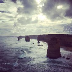 """quick trip to Melbourne and the Great Ocean Road to visit the """"12"""" apostles #theresonly8 #greatoceanroad #twelveapostles by sarah_osullivan"""