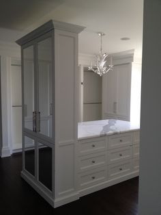 Closet Island - Transitional - closet--great closet island...add a glass inset on top. Love this island-RWP