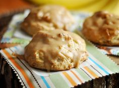 Roasted Banana Scones with Peanut Butter Glaze kearnold25