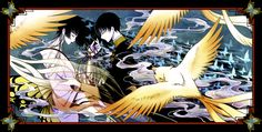 "Source: ""xxxHolic"" | Characters: ""Watanuki Kimihiro"" ""Yuuko Ichihara"" |  Artist: ""Haifuki"""