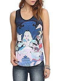 HOTTOPIC.COM - Disney Alice In Wonderland Tea Party Girls Tank Top