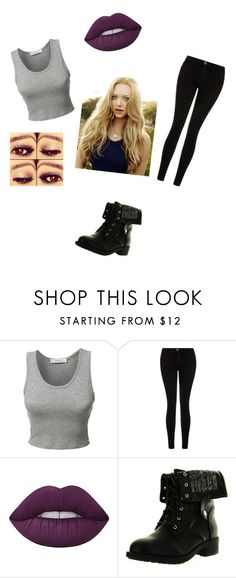"""""""Untitled #377"""" by sodapop-999 ❤ liked on Polyvore featuring LE3NO, Current/Elliott, Lime Crime and Refresh"""