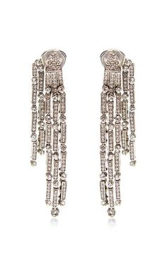 Tiered Drop Crystal Earrings by Oscar de la Renta Now Available on Moda Operandi