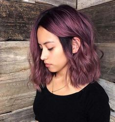 short thin hair lobes Best Picture For dark hair styles 2019 For Your Taste You are looking f Aqua Hair, Purple Hair, Dark Purple, Brown Blonde Hair, Dark Hair, Thin Hair Styles For Women, Curly Hair Styles, Elegant Hairstyles, Cool Hairstyles