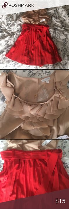 Dress Never worn.  Cute and unique.  Belted/pleated skirt.  Make me an offer Charming Charlie Dresses Mini