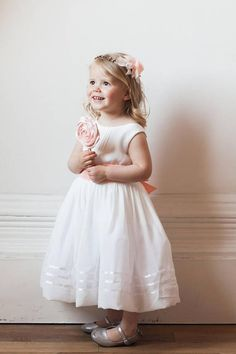 Perfect for your younger flowergirls! A beautiful dress made of silk  overlay and tulle. 37a38099f