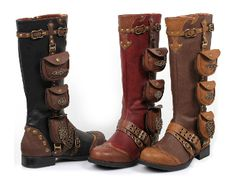 Ladies Steampunk Gypsy Boho Boots 6-11--a little pricy, but really cool. Shoes with pockets.