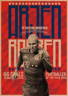 Arjen Robben Poster by Vinicius De Moura Campos Cabral, via Behance