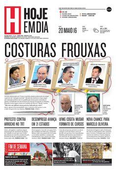 Capa do dia 20/05/2016 #HojeEmDia #Jornal #Notícias #News #Newspaper