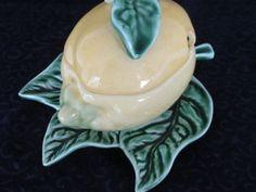 Lemon RARE Dish Bordalo Pinheiro Portugal Jam Dish