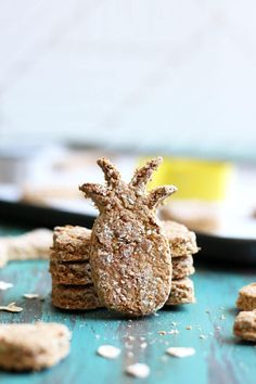 If you can't take your pups on a tropical vacation with you, bring the island vibes to them with these Tropical Pineapple Coconut Dog Treats. Made with fresh pineapple and coconut oil, these delightful treats will have your pups jump for joy. Dog Biscuit Recipes, Dog Treat Recipes, Baking Recipes, Dog Food Recipes, Healthy Recipes, Diy Dog Treats, Homemade Dog Treats, Puppy Treats, Friend Recipe