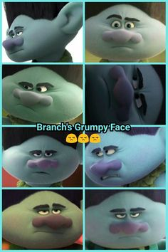 Branch's Grumpy Face😒😒😒 Sunshine In My Pocket, Troll Costume, Grumpy Face, Poppy And Branch, Troll Party, Fan Girl, Dreamworks, Videogames, Poppies