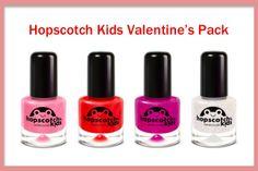 myFootprint   - Hopscotch Kids Non-Toxic Valentine's Pack: 3 Nail Polish   1 Top Coat, $30.99 (http://www.myfootprintstore.com/hopscotch-kids-non-toxic-valentines-pack-3-nail-polish-1-top-coat/)