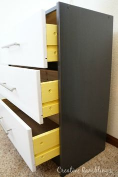 DIY IKEA Rast Hack: Creative Ramblings | Contemporary Ikea Rast Hack. Learn how to take on this Ikea Hack featuring Pittsburgh Paints & Stains colors.