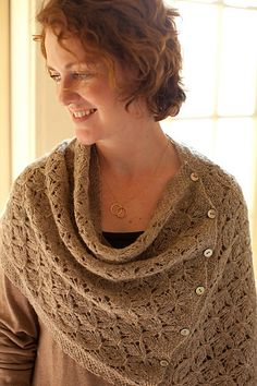 Ravelry: Smocked Lace Wrap & Shrug pattern by Churchmouse Yarns and Teas