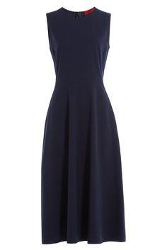 Hugo - Pinstriped Midi Dress