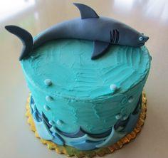 Shark Birthday Cake by 2tarts Bakery   New Braunfels, TX   www.2tarts.com