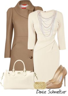 """Perfect work / business wear """"Sophisticated Neutrals"""" by denise-schmeltzer ❤ liked on Polyvore"""