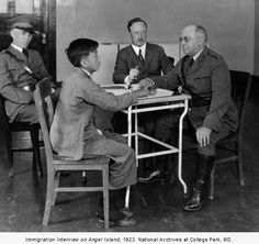 The Chinese Exclusion Act Ended Seventy-One Years Ago, Today | BY EMIL GUILLERMO | NBCNews.com When the exclusion law was in effect, Chinese immigrants were often subjected to detention and questioning at San Francisco's Angel Island. Interview, 1923