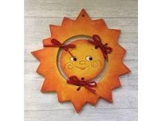 Cerámica bipartita tiempo soleado Clock, Wall, Home Decor, Sun, Moon, Watch, Homemade Home Decor, Clocks, Interior Design