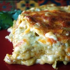 Enchilada Lasagna - I LOVE this recipe. It's easy, has few ingredients, and is absolutely DELISH. My mom used to make enchilada this way.