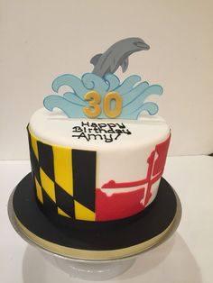 A Maryland Flag Birthday cake Birthday Cakes Pinterest