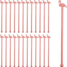 Pink Flamingo Cocktail Stirrers are in length & are great for tropical tiki drinks and cocktails. Stock up with a box of 1000 pink plastic stir sticks. Pink Flamingo Party, Flamingo Birthday, Pink Flamingos, Flamingo Pool, Cocktail Drinks, Cocktails, Cocktail Recipes, Cocktail Accessories, How To Make Ice Coffee