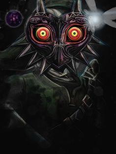 Legend of Zelda Majora's Mask Link Art Print by Barrett Biggers The Legend Of Zelda, Majora Mask, Zelda Tattoo, Geek Home Decor, Poster Online, Mask Painting, Link Art, S5 Mini, Nintendo