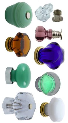 Glass Cabinet Knobs- Crown City Hardware, Resource for Vintage Style Hardware. found on retrorenovation.com