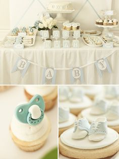 blue couture theme baby shower ideas