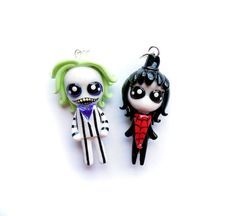 NEW  Beetlejuice and Lydia  Miniature by WonderlandContraband, $40.00