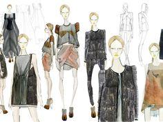 Fashion Sketchbook - fashion design drawings; womenswear collection sketches; fashion illustration; fashion portfolio // Katty Hoelck