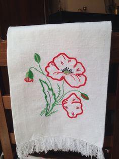 Ricamo, estate, papavero - classical embroidery, Spring-summer, poppy