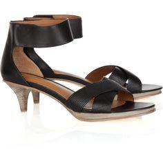 DKNY Daniella kitten-heel sandals, found on polyvore.com