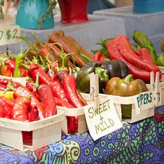 Check out Farmer's Market of the Ozarks for fresh, beautiful foods such as fruit, veggies, and these delicious peppers. Photo by Ruth Porter Sweet T, Best Dishes, Farmers Market, Missouri, Restaurants, Stuffed Peppers, Foods, Meals, Fresh