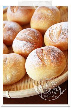 ホシノ酵母朝食丸パン♪基本全粒粉パン
