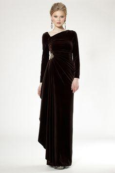 Black velvet dress by Lee Jordan New York. Vintage cocktail dress ...