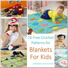 WIPs 'N Chains | Link Blast | 16 Free Crochet Patterns for Blankets for Kids