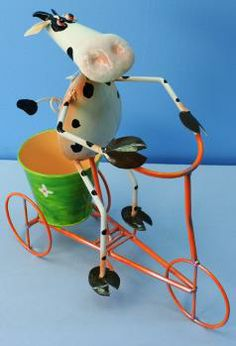 Cow Bicycle Planter from www.SimplyBovine.com    It's simply moovelous!