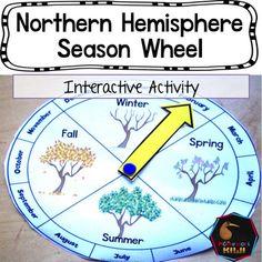 Northern Hemisphere Seasonal Wheel by Montessorikiwi (via TpT)