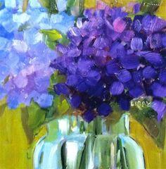 """Blue on Blue"" - Original Fine Art for Sale - © Libby Anderson"