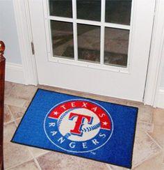 """MLB - Texas Rangers Starter Rug 19""""x30"""""""