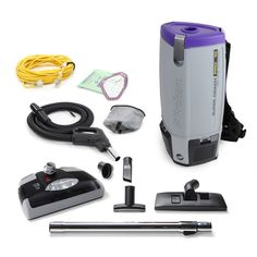 ProTeam ProForce 1500XP Bagged Upright Vacuum Cleaner with HEPA Media Filtrat