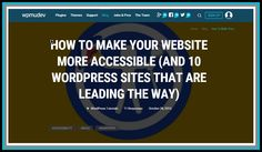 """Here is another excellent article from WPMUDev. Written by Brenda Barron. """"After all, if we build sites for speed, for good design, for functionality, and for typical UX, we should be thinking about the UX for those with disabilities, too."""" https://premium.wpmudev.org/blog/make-wordpress-accessible #websites #webdesign #webdevelopment #wordpress"""
