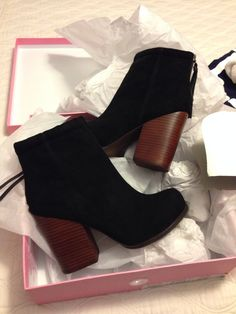 These Jeffery Campbell booties would look amazing with long jeans rolled up to the top of these boots