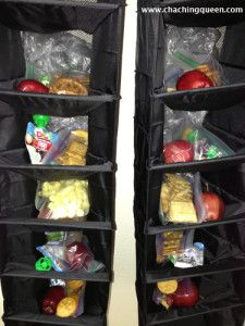 How to organize kids school lunches for the week