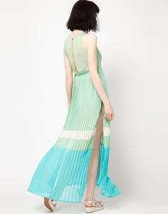 Three Floor Freshers Color Block Maxi Dress