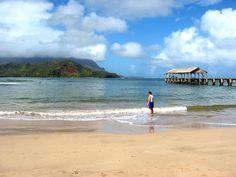 Hanelei Bay, Kauai. the most perfect beach I've ever been to.